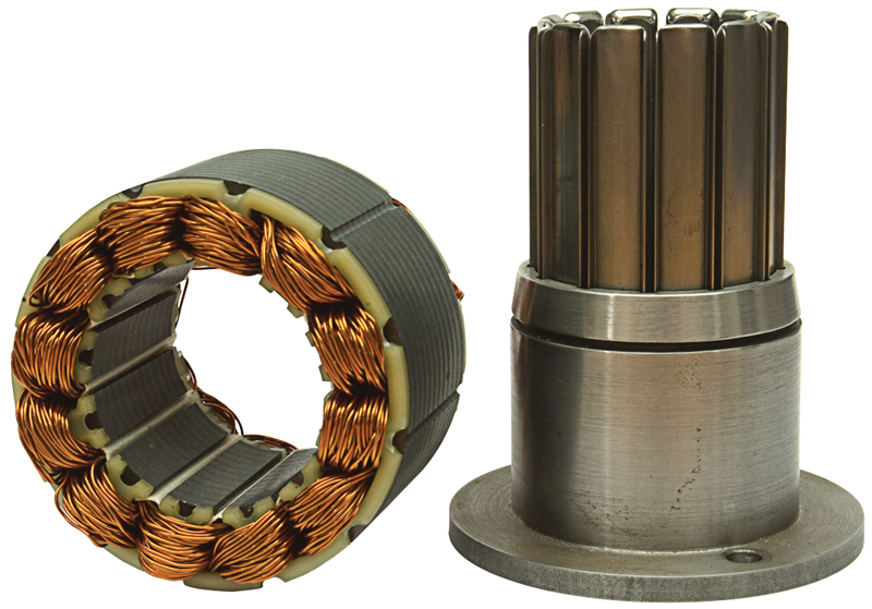 simple stator coil inserting tooling and coil inserted stator
